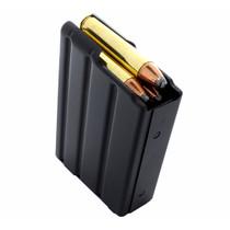 DURAMAG Magazine, 350 Legend, 5Rd, Black, Stainless Steel, Fits AR Rifles, Orange AGF Follower
