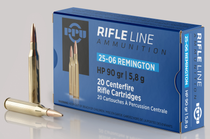 PPU Standard Rifle 25-06 Rem 90gr, Hollow Point, 20rd Box