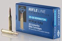 PPU Standard Rifle 25-06 Rem 90gr, Hollow Point, 20rd/Box