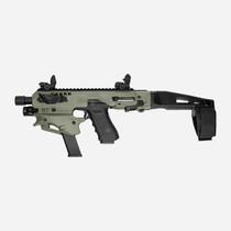 Command Arms MCK Glock Std Conversion Kit, Glock 17/19/19X/22/23/31/32/45 Gen3-5, Olive Drab Stock