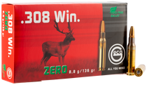 Geco Zero  308 Win 136gr, Jacketed Hollow Point, 20rd Box