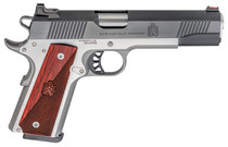 "Springfield Ronin Operator 1911, Full Size, 45ACP 5"" Barrel, Blued, SS Frame, Fiber Optic Front Sight Tactical White Dot Rear, 8rd Mag"