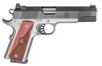 "Springfield Ronin Operator 1911, Full Size, 9mm, 5"" Barrel, Blued, SS Frame, Fiber Optic Front Sight Tactical White Dot Rear, 9rd Mag"