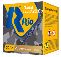 "Rio Game Load 20 Ga, 2.75"", 1oz, 8 Shot, 25rd Box"
