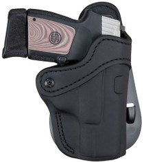 1791 PDH 2.1 Black Leather Outside Waistband Glock 17/S&W Shield/Springfield XD9, Right Hand