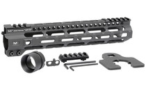 """Midwest Combat Rail Light Weight M-Lok Handguard, Fits AR Rifles, 10.5"""" Free Float Handguard, Wrench And Mounting Hardwareluded, 5-Slot Polymer M-Lok Railluded, Black"""