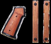 Sharps Bros. Aluminum/Wood AR Grip, Two M-Lok Hand Guard Panels Hardware, Black, Brazilian Cherry, Wrench