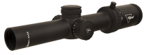Trijicon Credo 1-4x24 2nd Focal Plane, Green MRAD Ranging, 30mm Tube, Matte Black, Low Capped Adjusters