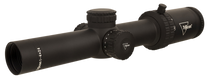 Trijicon Credo 1-4x24 2nd Focal Plane, Red MRAD Ranging, 30mm Tube, Matte Black, Low Capped Adjusters