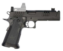 """Staccato XC 9mm, 5"""" Island Compensated Barrel, Tactical DUO Sights, Black DLC, 18/21rd"""