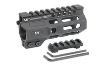 """Midwest Combat Rail, Handguard, 4.5"""" Length, M-Lok, Black Anodized Finish,ludes 5-Slot Polymer Rail Section, Barrel Nut And Wrench"""