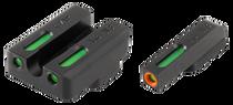 Truglo Brite-Site TFX Pro Day/Night Sights CZ 75 Tritium/Fiber Optic Green Orange Outline Front U-Notch Green Rear Black