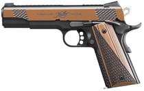 "Kimber Stainless Raptor II .45 ACP, 5"" Barrel, KimPro Black/Tru-Tan, Black/Tan Grips, 8rd"