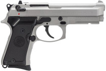 Beretta 92 Compact, Rail 9mm 4.25 10+1 Black Synthetic Grip Inox SS