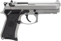 Beretta 92 Compact, Rail 9mm 4.25,  Black Synthetic Grip Inox SS,  10 rd