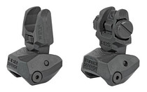 FAB Defense AR-15  Flip Up Front and Rear Sight Set, Fits Picatinny Rails, Polymer, Black