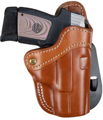1791 Gunleather PDH 2.1 Classic Glock 17/S&W Shield/Springfield XD9, Brown Leather, Outside Waistband, Right Hand