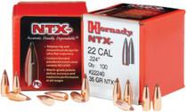 Hornady Lead Free Rifle Bullet .22 Caliber .224 Diameter 35gr, Ntx, 100rd/Box