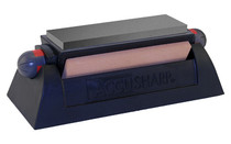 "AccuSharp Model , Knife Sharpener, Rotating, 6"" Length, Includes 3 Levels of Sharpening Stones"