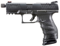 "Walther PPQ M2 Q4 Tactical 9mm, 5"" Threaded Barrel, Black, 15rd"