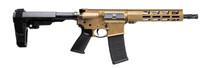 """Ruger AR556 Pistol 5.56/.223, 10.5"""" Barrel, Davidson's Dark Earth, SBA3, 30rd"""