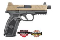 "FN 509 Tactical 9mm, 4.5"" Threaded Barrel, Black Frame, Flat Dark Earth Slide, 17 & 24rd Mags"