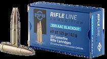 PPU Rifle Line .300 Blackout 125gr, HPBT, 20rd Box