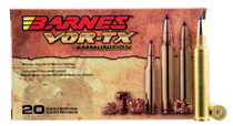 Barnes VOR-TX Rifle 300 RUM 165gr, Tipped TSX Boat Tail, 20rd Box