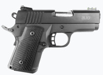 "Rock Island Ultra Warrior 1911, Compact, 45ACP, 3.1"" Barrel, Alloy Frame, Black, G10 Grips, Fiber Optic Front Sight, Adjustable Rear Sight, 10Rd Mag"