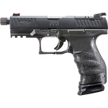 "Walther PPQ Classic Q4 TAC, Semi-automatic, Striker Fired, Full Size, 9mm, 4.6"" Threaded Barrel, Polymer Frame, Black Tenifer Finish, 15Rd, 3 Magazines"