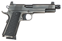 "Dan Wesson Wraith, Suppressor Ready Full Size 1911, 45 ACP, 5.75""Threaded Barrel, Steel Frame, Stainless Steel Finish, G10 Grips, 8Rd, High Night Sights"