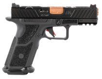 "ZEV Technologies O.Z-9 Compact, X 9mm, 4"" Bronze Barrel, Steel Frame, Polymer X Grip, Black, 17rd"
