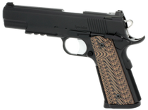 "Dan Wesson Specialist Commander 1911 45 ACP 4.25"" 8+1 Black Stainless Steel Black/Brown G10 Grip"