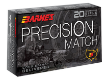 Barnes Precision Match 6.5 Creedmoor 140gr, Open Tip Match Boat Tail, 20rd Box
