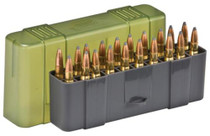 Plano Molding Slip Top Large Rifle Ammo Case 20rd Gray/Green