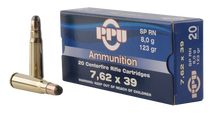 PPU PP375F Metric Rifle 7.62x39mm 123gr, Soft Point, 20rd Box