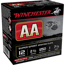 "Winchester AA Super Sport 12 Ga, 2.75"" 1 oz 7.5 Shot 25rd Box"