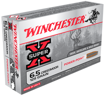 Winchester Super-X  6.5 Creedmoor 129gr, Power-Point, 20rd Box