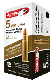 Aguila Special  5mm Remington Rimfire Mag 30gr, Jacketed Hollow Point, 50rd/Box