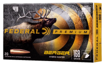 Federal Premium Berger Hybrid Hunter 280 Ackley Improved 168gr, Berger Hybrid Hunter, 20rd Box