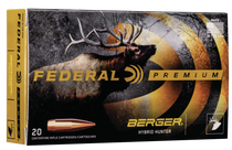 Federal Premium Gold Medal 300 Win Mag 215gr, Berger Hybrid Open Tip Match, 20rd Box