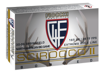 Fiocchi Extrema 30-06 Springfield 165gr, Swift Scirocco II Boat Tail Spitzer, 20rd Box