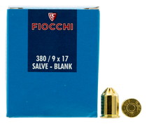 Fiocchi Handgun Blank 380 Rimmed Short, 50rd Box - Not Ammo, These Are Blanks
