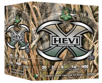 "HEVI-Shot Hevi-X 20 Ga 3"", 1oz, 6 Shot, 25rd Box"