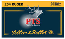 Sellier & Bellot Rifle 204 Ruger 32gr, Plastic Tip Special, 20rd Box