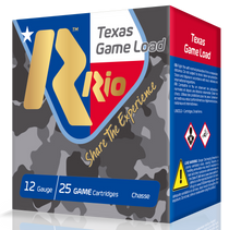 "RIO Top Game Texas Game Load High Velocity 12 Ga, 2.75"", 1-1/4oz, 7.5 Shot, 25rd Box"