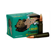 Silver Bear 7.62x39 123gr, Hollow Point, 20rd Box