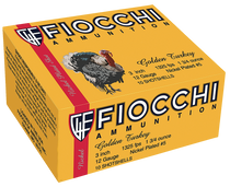 "Fiocchi Turkey Nickel Plated 12 Ga, 3"", 1-3/4oz, 5 Shot, 10rd Box"