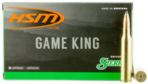 HSM Game King  338 Lapua Mag 215gr, Spitzer Boat Tail, 20rd Box