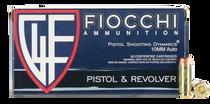 Fiocchi Shooting Dynamics 10mm ACP 180gr, Full Metal Jacket Truncated-Cone, 50rd Box